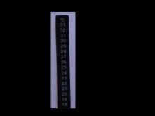 Teplotní proužek 18 - 33 °C